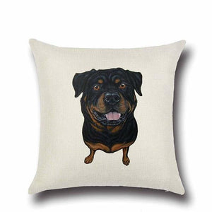 Simple Chocolate Brown Labrador Love Cushion CoverHome DecorRottweiler