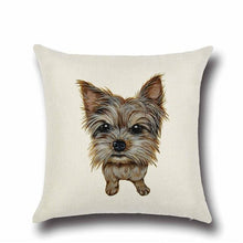 Load image into Gallery viewer, Simple Chocolate Brown Labrador Love Cushion CoverHome DecorYorkshire Terrier / Yorkie - Option 1