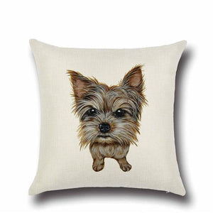 Simple Chocolate Brown Labrador Love Cushion CoverHome DecorYorkshire Terrier / Yorkie - Option 1