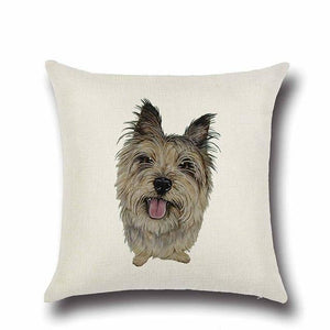 Simple Chocolate Brown Labrador Love Cushion CoverHome DecorYorkshire Terrier / Yorkie - Option 2