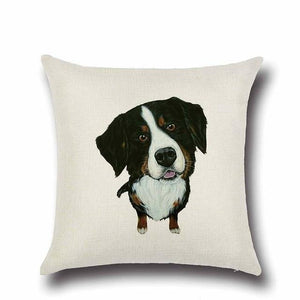 Simple English Bulldog Love Cushion CoverHome DecorBorder Collie