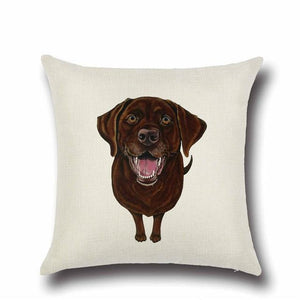 Simple English Bulldog Love Cushion CoverHome DecorLabrador - Brown