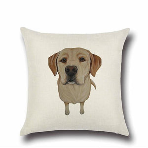 Simple English Bulldog Love Cushion CoverHome DecorLabrador - Yellow