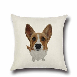 Simple Jack Russell Terrier Love Cushion CoverHome DecorCorgi