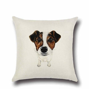 Simple Jack Russell Terrier Love Cushion CoverHome DecorJack Russell Terrier