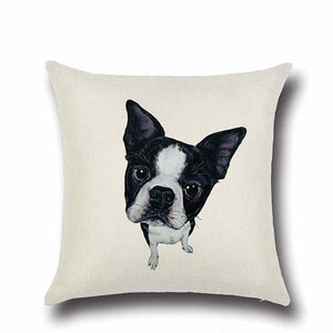 Simple Pomeranian Love Cushion CoverHome DecorBoston Terrier