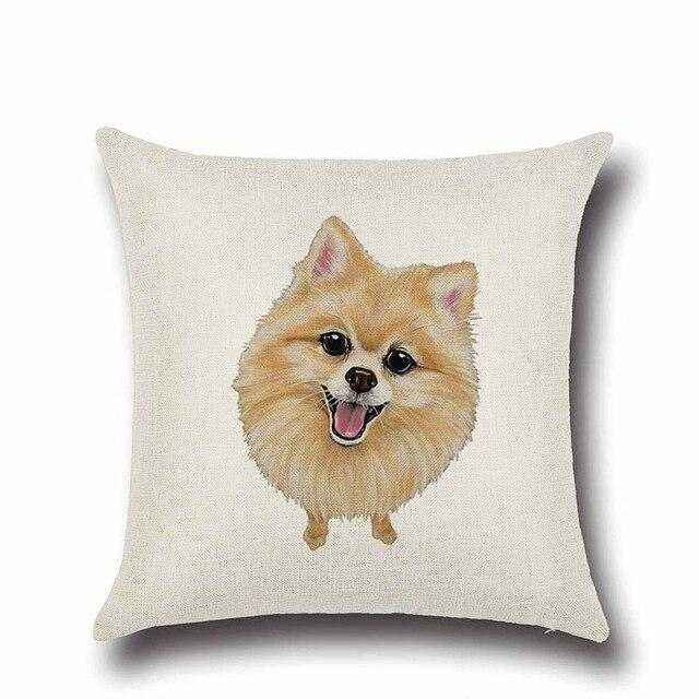 Simple Pomeranian Love Cushion CoverHome DecorPomeranian