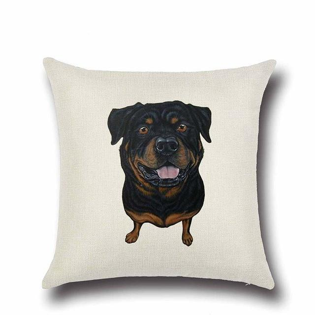 Simple Rottweiler Love Cushion CoverHome DecorRottweiler