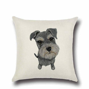Simple Schnauzer Love Cushion CoverHome DecorSchnauzer