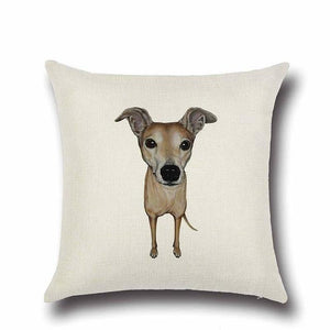 Simple Schnauzer Love Cushion CoverHome DecorWhippet