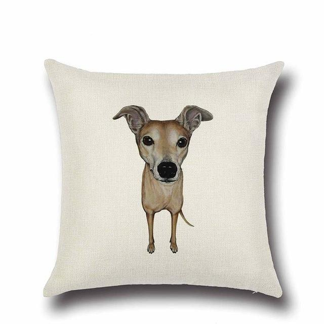Simple Whippet Love Cushion CoverHome DecorWhippet