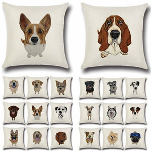 Simple Yellow Labrador Love Cushion CoverHome Decor