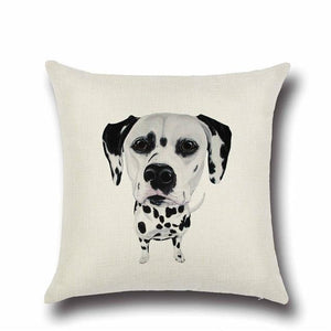 Simple Yellow Labrador Love Cushion CoverHome DecorDalmatian - Option 1