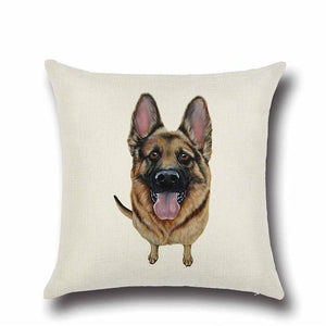 Simple Yellow Labrador Love Cushion CoverHome DecorGerman Shepherd