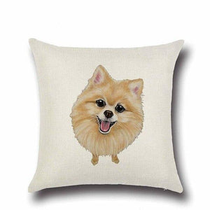 Simple Yellow Labrador Love Cushion CoverHome DecorPomeranian