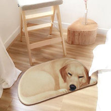 Load image into Gallery viewer, Sleeping Bichon Frise Floor RugMatLabrador RetrieverSmall