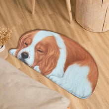 Load image into Gallery viewer, Sleeping Border Collie Floor RugMatCocker SpanielSmall