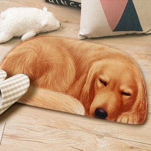 Sleeping Border Collie Floor RugMatGolden RetrieverSmall