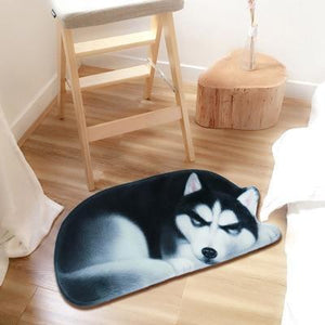 Sleeping Border Collie Floor RugMatHuskySmall