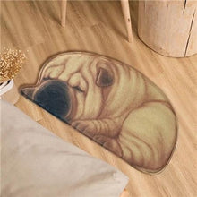 Load image into Gallery viewer, Sleeping Border Collie Floor RugMatShar-peiSmall
