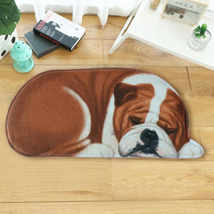Sleeping Boston Terrier / French Bulldog Floor RugMat