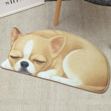 Load image into Gallery viewer, Sleeping Boston Terrier / French Bulldog Floor RugMatChihuahuaSmall