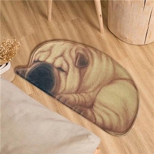 Sleeping Boston Terrier / French Bulldog Floor RugMatShar PeiSmall