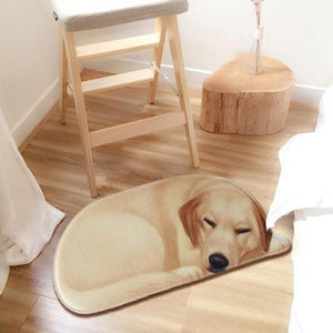 Sleeping Husky Floor RugMatLabrador RetrieverSmall