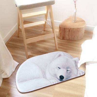 Sleeping Samoyed Floor RugMatSamoyedSmall