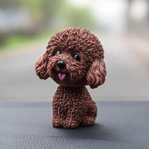 Smiling Brown Toy Poodle / Cockapoo / Labradoodle Resin Bobble HeadCar AccessoriesToy Poodle / Cockapoo / Labradoodle - Brown