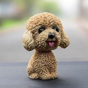 Smiling Brown Toy Poodle / Cockapoo / Labradoodle Resin Bobble HeadCar AccessoriesToy Poodle / Cockapoo / Labradoodle - Yellow