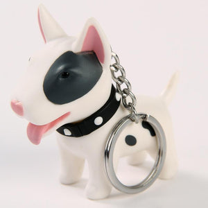 Smiling Bull Terrier Love KeychainAccessories