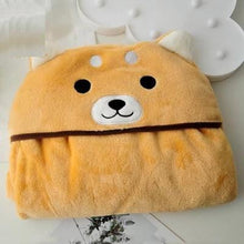 Load image into Gallery viewer, Husky and Akita / Shiba Inu Hooded Plush Cloak BlanketBlanket