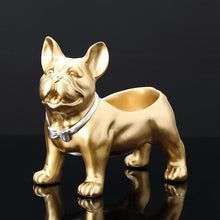 Load image into Gallery viewer, Smiling Golden French Bulldog Tabletop Organiser StatueHome Decor