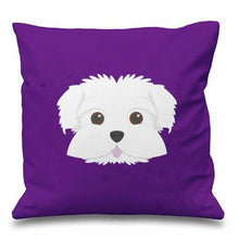 Load image into Gallery viewer, Smiling Maltese Multicolor Cushion CoversCushion Cover