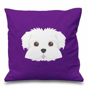 Smiling Maltese Multicolor Cushion CoversCushion Cover
