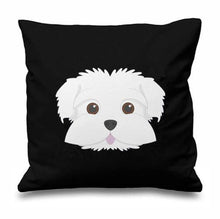 Load image into Gallery viewer, Smiling Maltese Multicolor Cushion CoversCushion CoverBlack