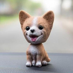 Smiling Pomeranian Resin Bobble HeadCar AccessoriesCorgi
