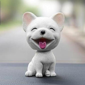 Smiling Pomeranian Resin Bobble HeadCar AccessoriesFrench Bulldog