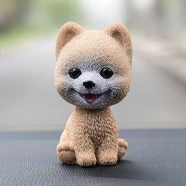 Smiling Pomeranian Resin Bobble HeadCar AccessoriesPomeranian