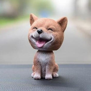 Smiling Pomeranian Resin Bobble HeadCar AccessoriesShiba Inu
