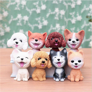 Smiling White Toy Poodle / Cockapoo / Labradoodle Resin Bobble HeadCar Accessories