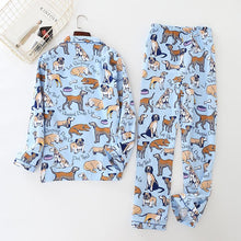 Load image into Gallery viewer, Some of the Dogs I Love Cotton Pajamas - Dalmatian, Pug, Labrador, Basset Hound & Australia ShepherdPajamas