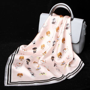 Some of the Dogs I Love Silk Scarf - French Bulldog, Beagle, Husky & SchnauzerAccessories