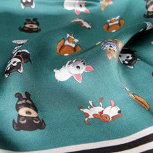 Load image into Gallery viewer, Some of the Dogs I Love Silk Scarf - French Bulldog, Beagle, Husky & SchnauzerAccessories