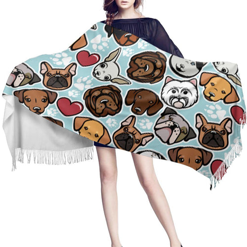 Some of the Dogs I Love Warm Winter Shawl - French Bulldog, English Bulldog, West Highland Terrier, Dachshund, Labrador, Chihuahua & Shar PeiAccessories