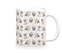 Load image into Gallery viewer, Some of the Pugs I Love Coffee MugMugInfinite Pugs and Hearts11oz