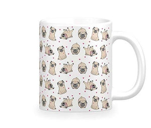 Some of the Pugs I Love Coffee MugMugInfinite Pugs and Hearts11oz