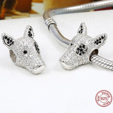 Load image into Gallery viewer, Studded Bull Terrier Silver Charm BeadDog Themed Jewellery