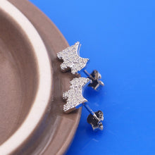 Load image into Gallery viewer, Studded Schnauzer Love Silver EarringsDog Themed Jewellery